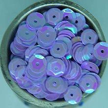 Iný materiál - Flitre lomené 7mm tmavo fialové AB - 10857370_