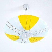 Svietidlá a sviečky - Žlutobílý lustr - 10855493_