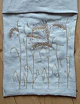 Úžitkový textil - ľanové vrecko na pečivo - 10857217_
