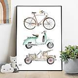 Detské doplnky - Art Print - dopravné prostriedky - 10856177_