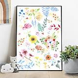 Detské doplnky - Art Print - kvety - 10856194_