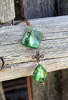 Náhrdelníky - Zelená perleť - náhrdelník - 10857720_