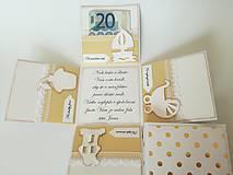Krabičky - Krabička na peniaze pre novomanželov - 10855362_