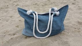 Veľké tašky - riflova plazova taska XXL - 10857218_