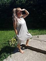 Šaty - Tielkové ľanové šaty - 10856540_