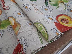 Úžitkový textil - Stredové obrusy s letným motívom (Ovocie na dreve) - 10859334_