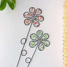 Dekorácie - zápich kvet (Zelená) - 10858252_