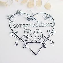 Dekorácie - mladomanželom - svadobné srdce ❤ 20cm     (Biela) - 10858296_
