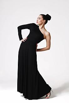 Šaty - Šaty dlhé s jedným rukávom - 10858226_