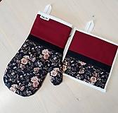 Úžitkový textil - set rukavica+chňapka Freja - 10859172_