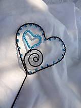 Dekorácie - od srdca ....zápich - 10858363_