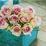 - S187 - Servítky - ruža, košík, drevo, vintage - 10858923_