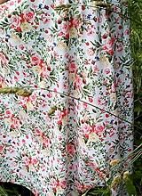 Sukne - Sukňa Maľované kytice - 10858933_