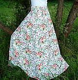 Sukne - Sukňa Maľované kytice - 10858947_