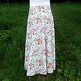 Sukne - Sukňa Maľované kytice - 10858948_