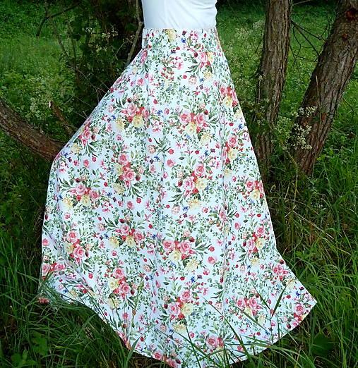 Sukňa Maľované kytice