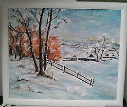 Obrazy - Zima na dedine - 10859455_