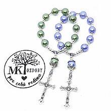 Iné šperky - 1+1 ruženček do ruky (Olivový & Modrý) - 10858884_