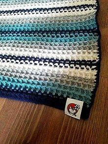 Textil - Vaflová merino deka - 10858815_