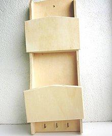 Polotovary - Nástenný držiak na listy a kl'úče - 10858976_