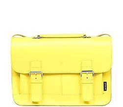 Veľké tašky - Kožená taška žlutá BOSTON 02 - 10859369_