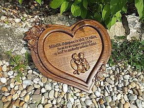 Obrazy - Srdce s gravírovaním - 10859418_