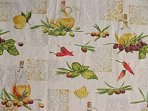 Úžitkový textil - Obrus - olivy - 10859155_