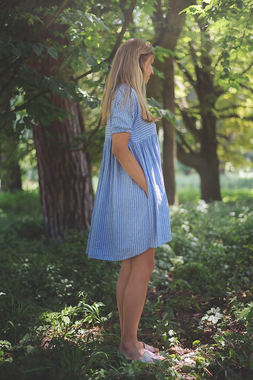 miljö ľanové šaty - förgätmigej