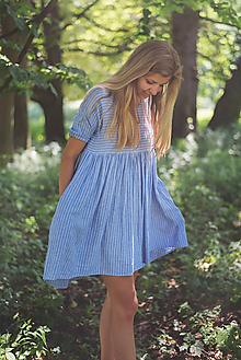 Šaty - miljö ľanové šaty - förgätmigej - 10858300_