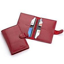 Iné doplnky - Puzdro na cestovný pas a doklady (Červená) - 10858800_
