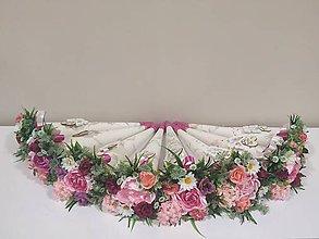 Nezaradené - Kvetinové kornutky,kvety so saténovych stuh (Fialová) - 10859002_