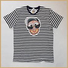 Tričká - Pánske pásikavé tričko - OčiPuči mámnaháku Čiko1 - 10860537_