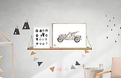 Detské doplnky - Art Print - auto veterán - 10860659_