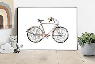 Detské doplnky - Art Print - bicykel - 10860663_