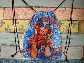 Batohy - Ruksak, batůžek, vak - Hippie girl - 10858809_