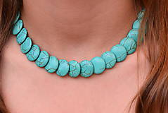 Náhrdelníky - Letní tyrkenitový náhrdelník - 10860495_
