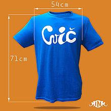 """Tričká - Pánske tričko """"cvič"""" M - 10859541_"""