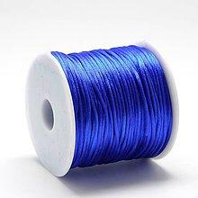 Galantéria - Atlasová šnúrka 1 mm (modrá) - 10858431_