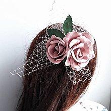 Ozdoby do vlasov - Fascinátor s ružami - 10858825_