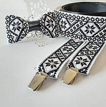 Opasky - Luxusný folk vyšívaný svadobný set III - 10860628_