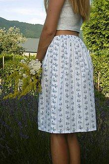 Sukne - folk sukňa drobné kytičky - 10862597_