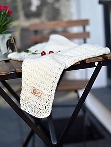 Textil - Detská deka MERINO: smotanová - 10862536_