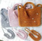 Veľké tašky - Bag&neklace sada, rôzne farby - 10861771_