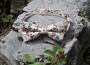 Doplnky - Pánsky kvetovaný motýlik  (Béžová) - 10862500_