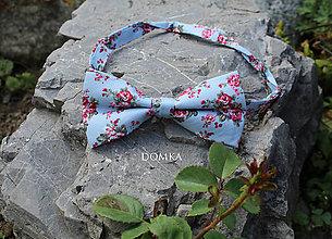 Doplnky - Pánsky kvetovaný motýlik  (Modrá) - 10862511_