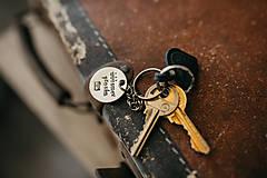 Drobnosti - Prívesok na kľúče úúúsmev prosím - 10861973_