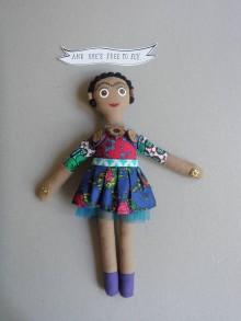 Hračky - Frida Kahlo - gombíková bábika - 10861665_