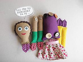 Hračky - Gombíková bábika Tidida - 10861731_
