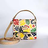Kabelky - Kožená kabelka (ručne maľovaná Matisse) - 10861461_