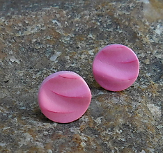 Náušnice - napichovačky vlnky ružové - 10861987_